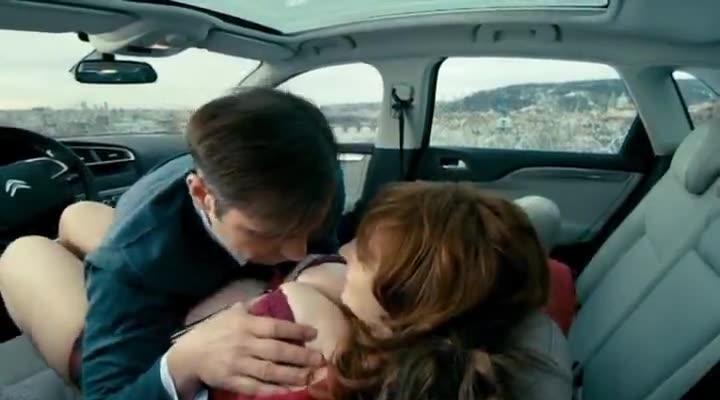 Vica Kerekes car scene from Men in Hope