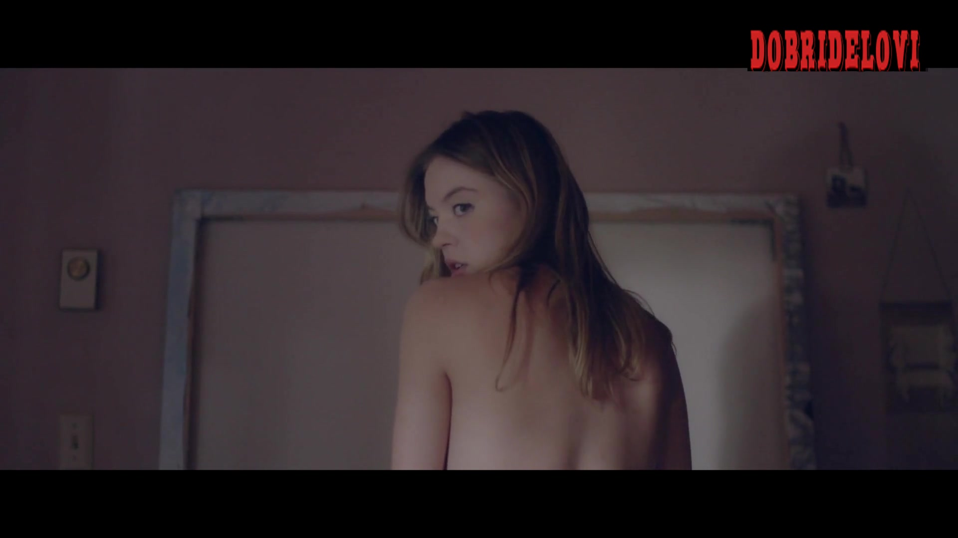 Sydney Sweeney and Otmara Marrero lesbian scene from Clementine video image