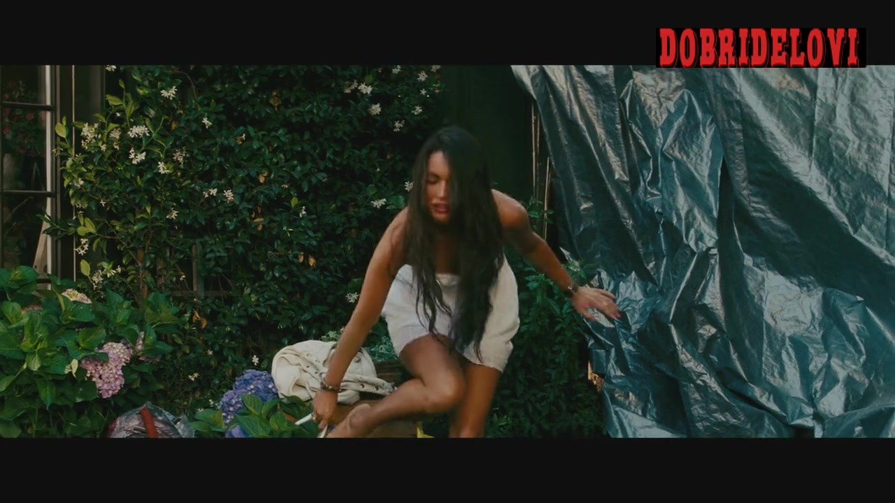 Megan Fox white panties exposed scene from Transformers Revenge of the Fallen