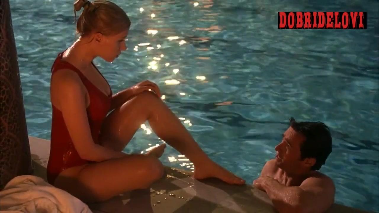 Scarlett Johansson red wet swimsuit scene from Scoop