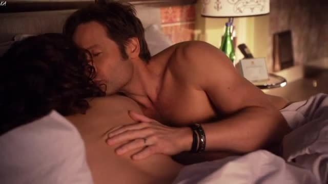 Carla Gugino sexy scene from Californication