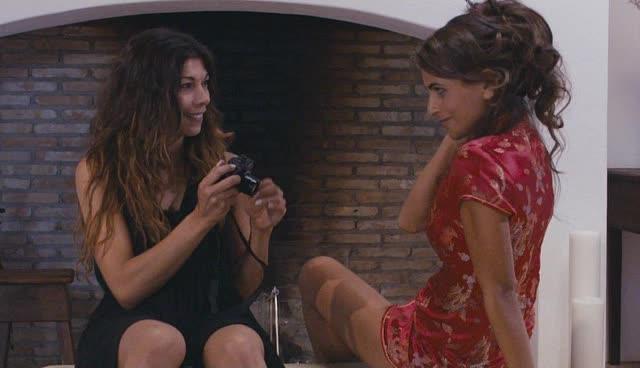 Liliana and Sandra flirting