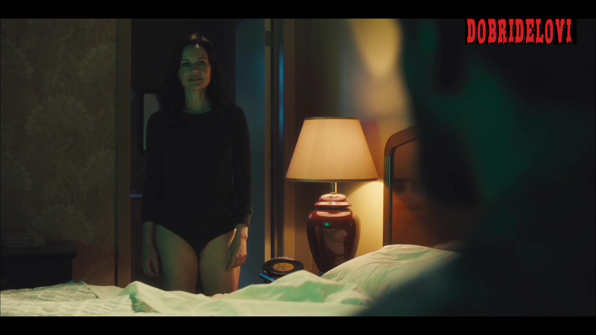 Carla Gugino black panties scene from Jett