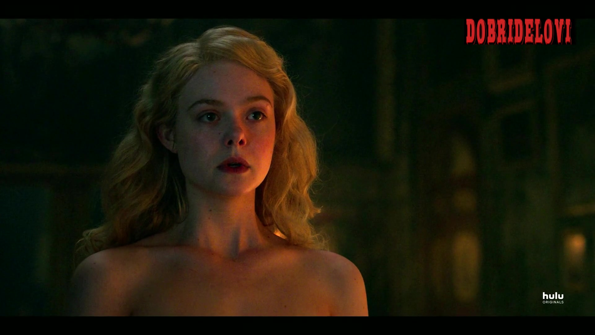Elle Fanning undresses for Nicholas Hoult in The Great
