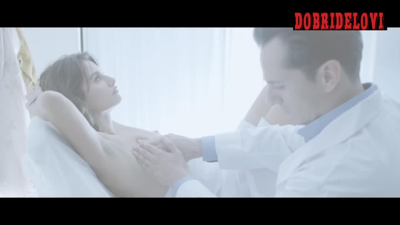 Penelope Cruz getting a breast exam