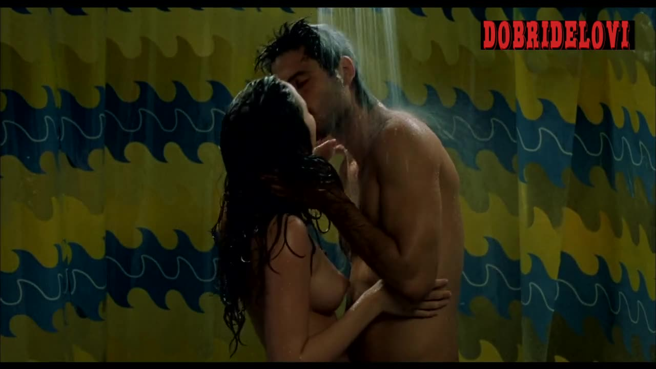 Ana de Armas shower sex scene from Sex Party and Lies