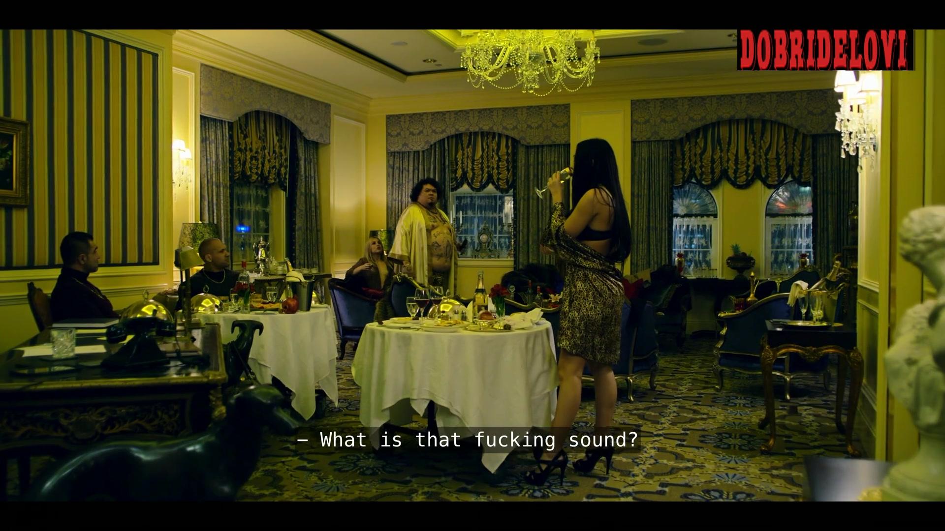 Drew Catherine Gilder and Yana Gold topless in drug dealer party for Polar