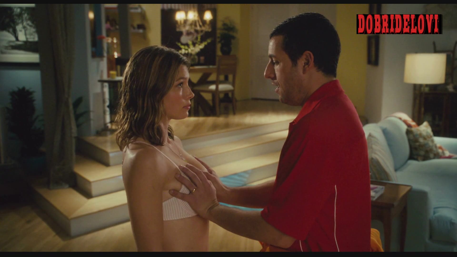 Jessica Biel gropped by Adam Sandler in I Now Pronounce you Chuck Larry