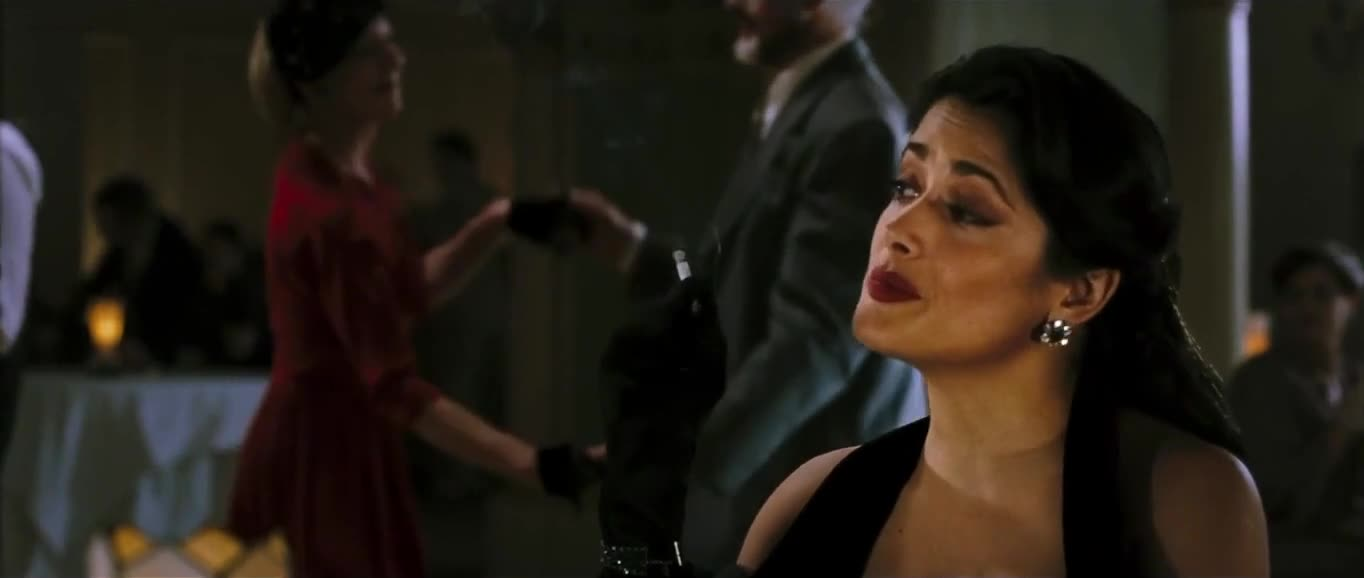Salma Hayek cleavage scene from Lonely Hearts
