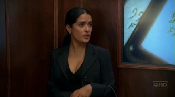Stuck in an elevator with Salma Hayek