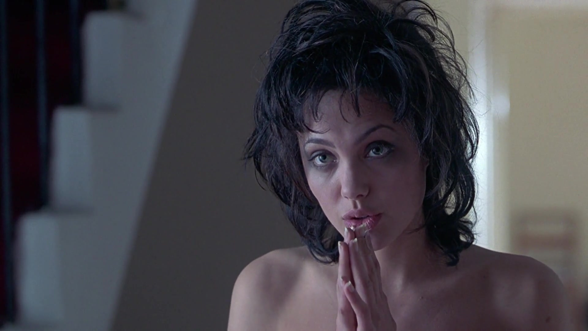 Angelina Jolie wakes up and walks around naked in hallway for Gia
