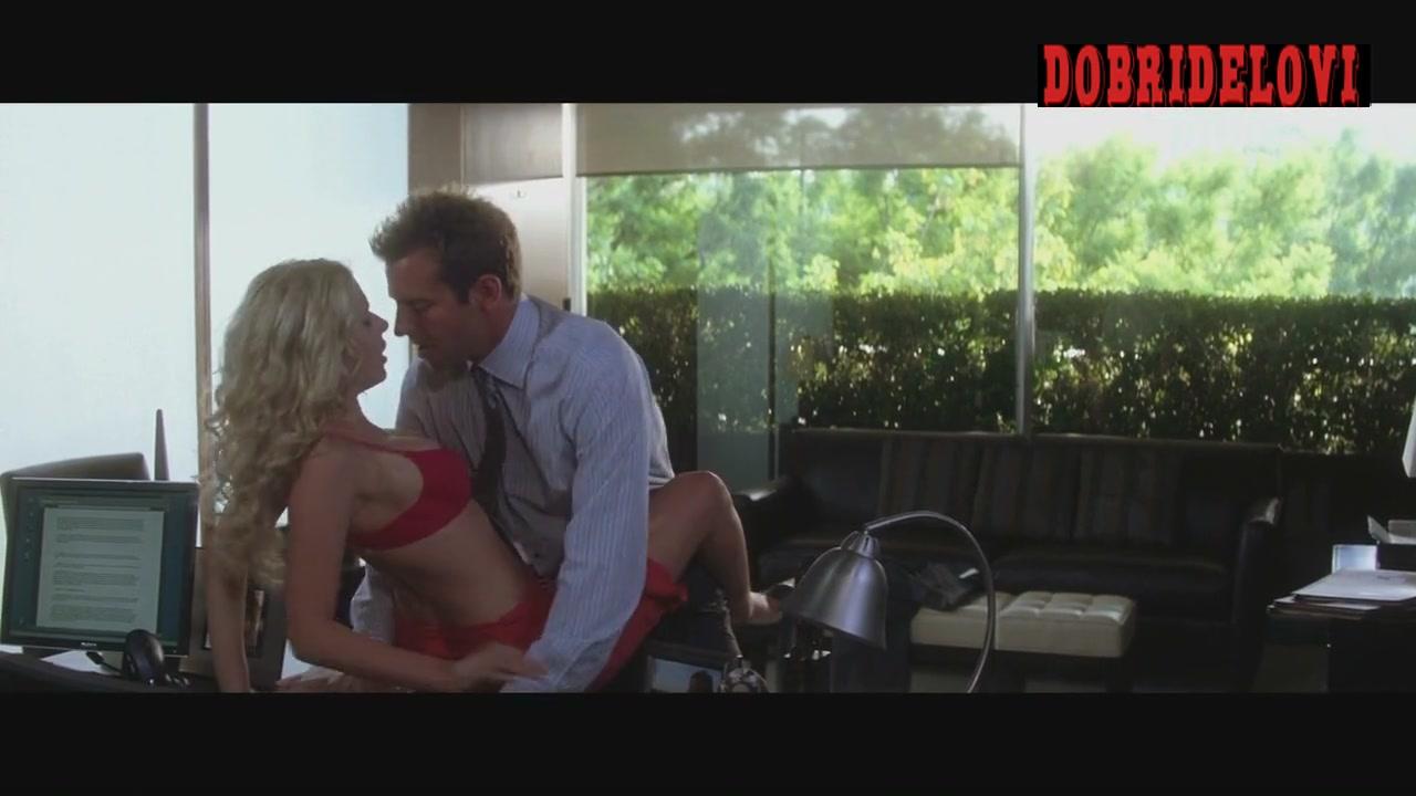 Scarlett Johansson undresses for Bradley Cooper in the office