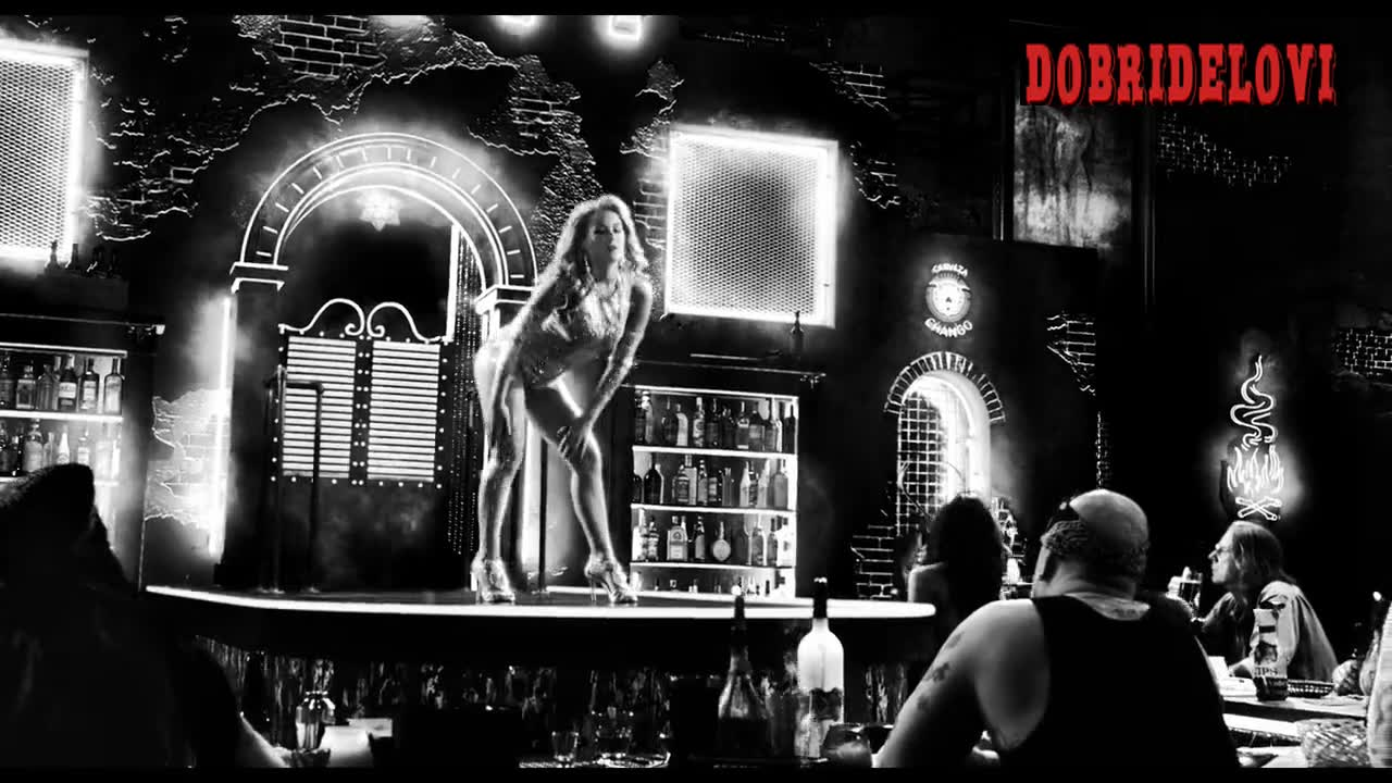 Alexa Vega dancing on stage scene from Sin City a Dame to Kill For
