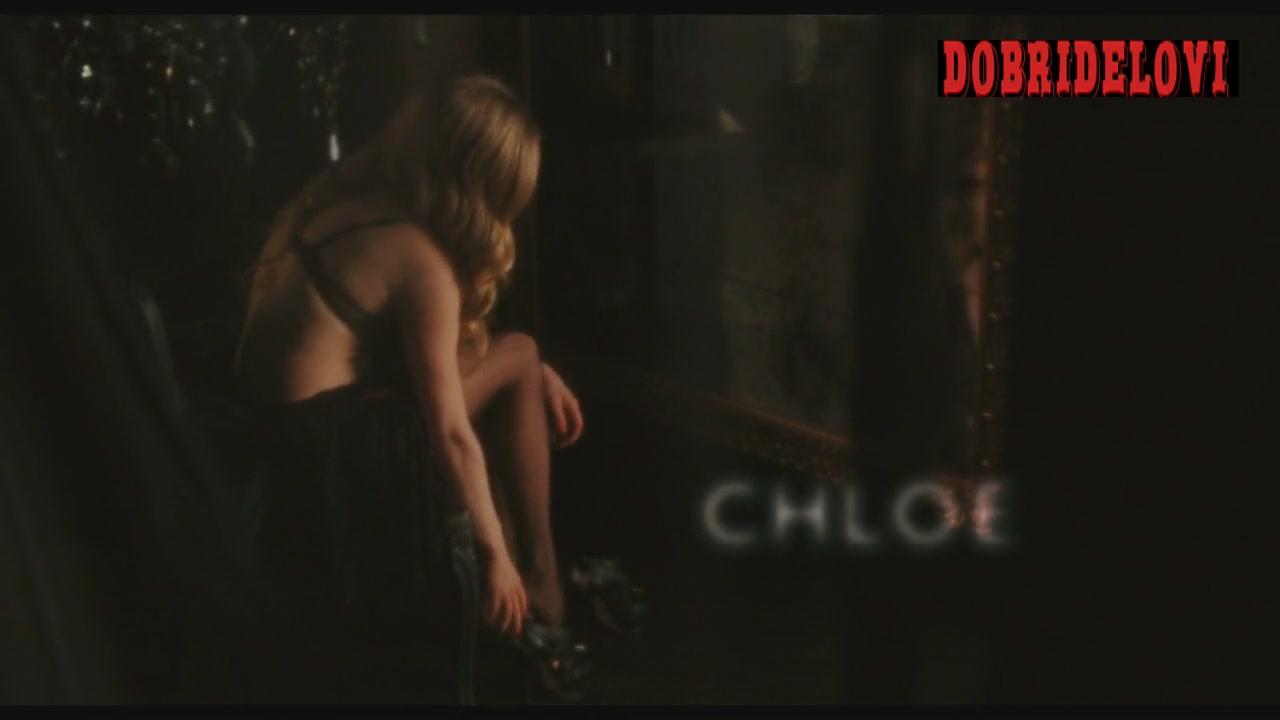 Amanda Seyfried sexy black lingerie in Chloe opening scene