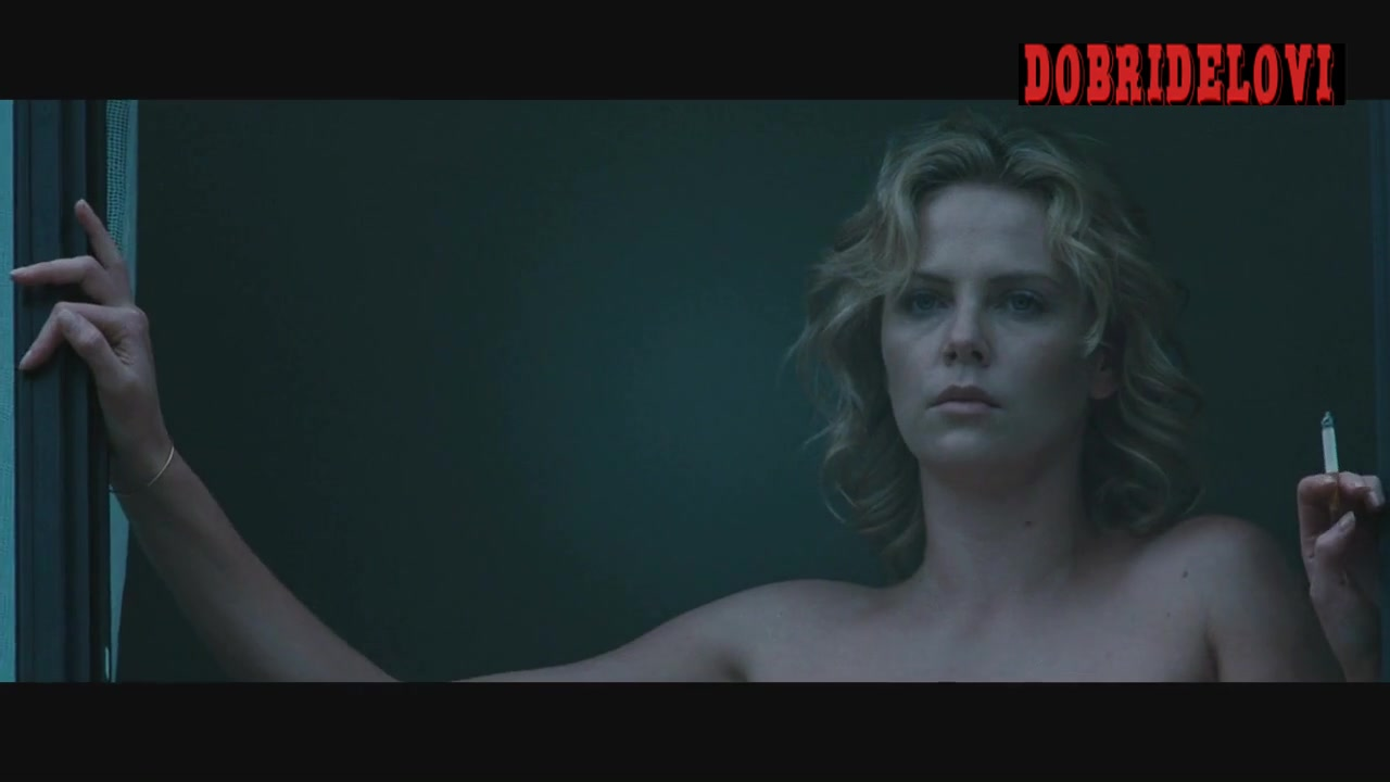 Charlize Theron gets out of bed naked scene from The Burning Plain