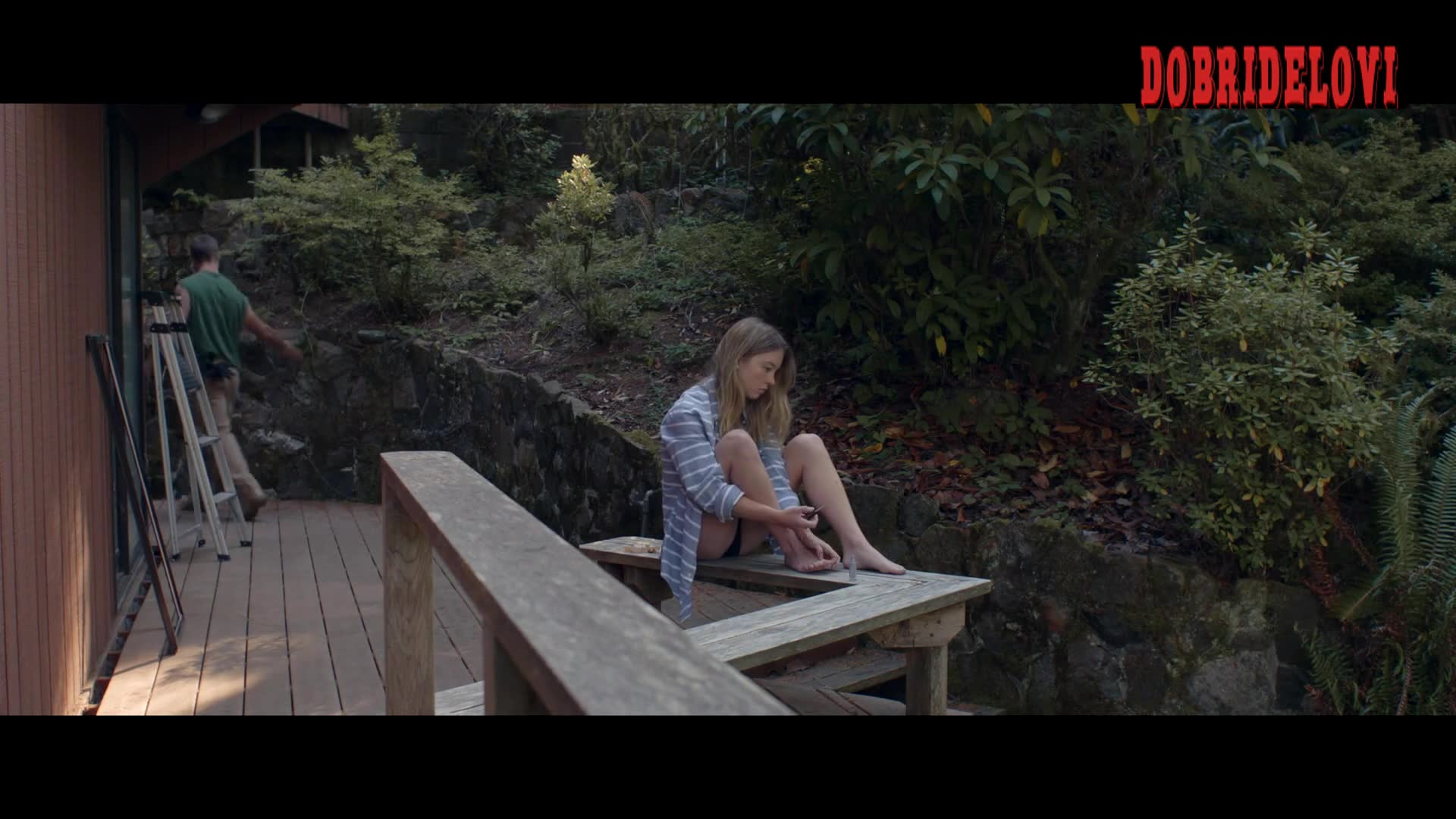 Sydney Sweeney painting toenails scene from Clementine