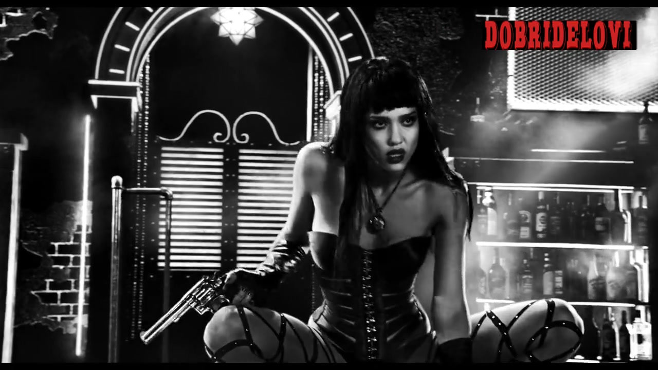 Jessica Alba dancing on the strip club stage for Sin City a Dame to Kill For