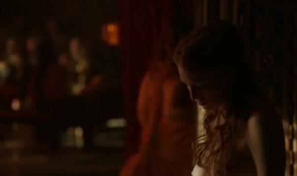 Josephine Gillan scene in Game of Thrones