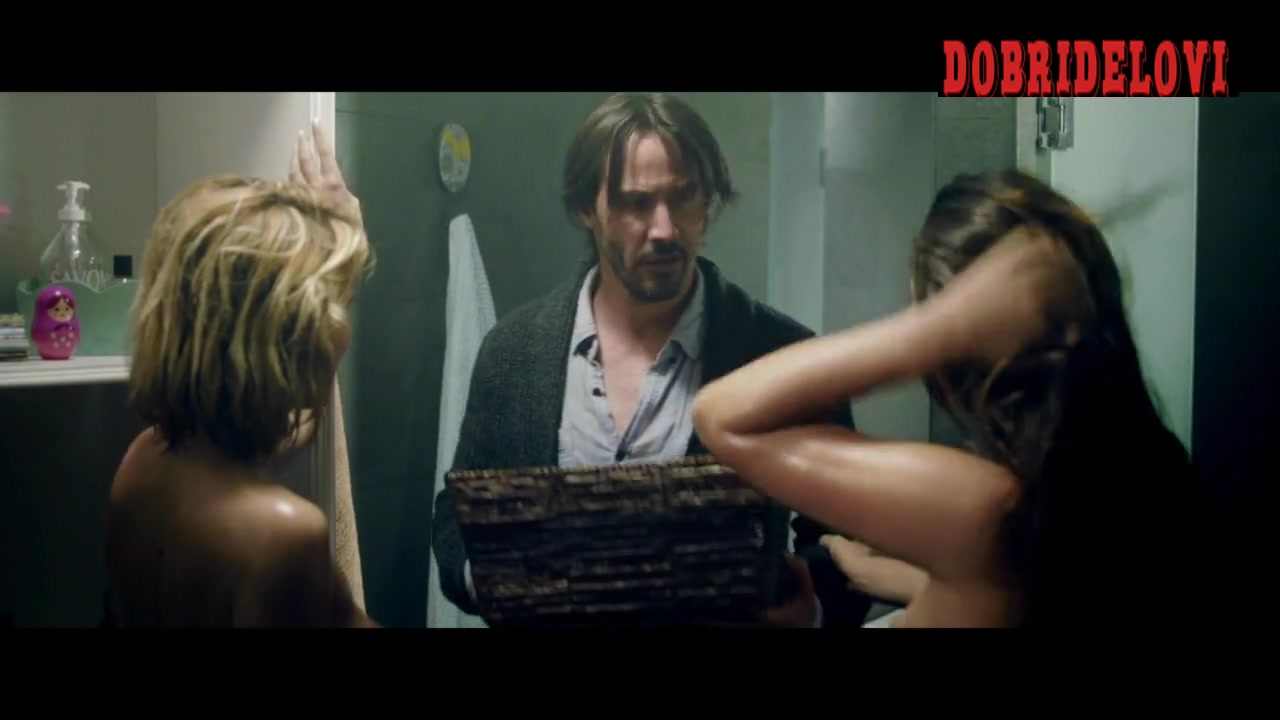 Ana de Armas and Lorenza Izzo threesome with Keanu Reeves
