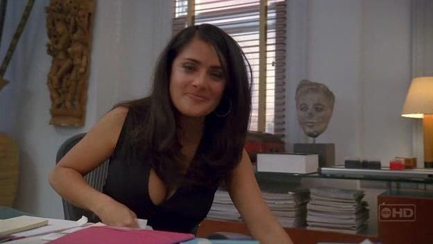Salma Hayek in a sexy dress