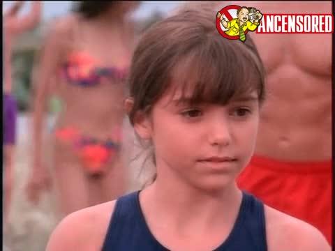 Nicole Eggert scene in Baywatch