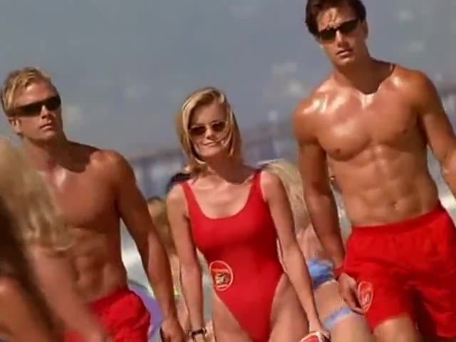 Kelly Packard must watch clip from Baywatch