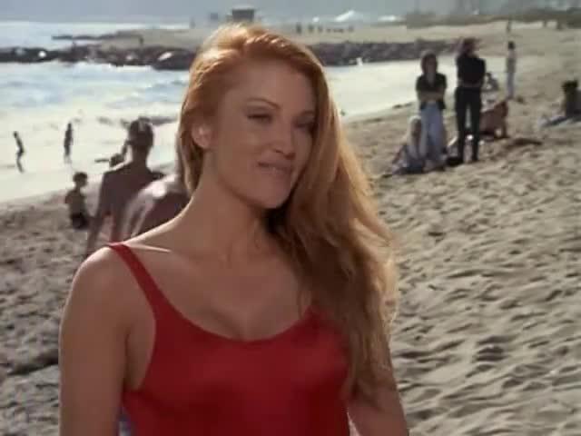 Angelica Bridges scene in Baywatch