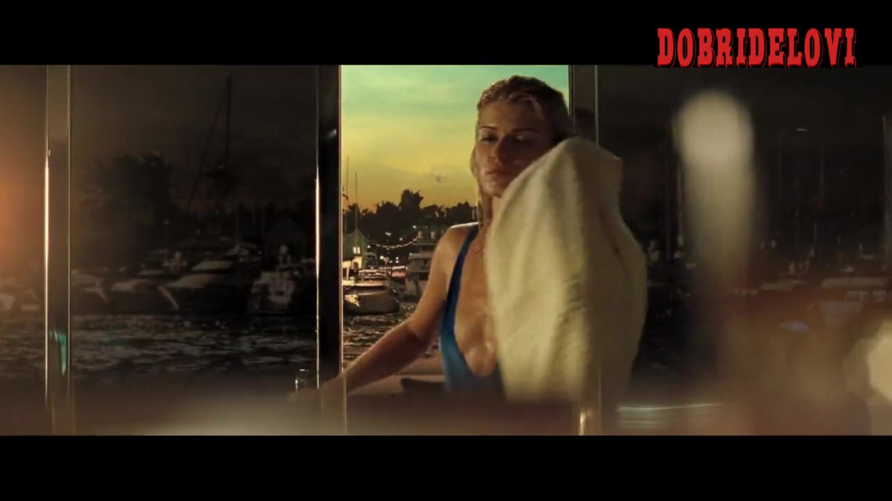 Ivana Milicevic sexy blue swimsuit scene in Casino Royale