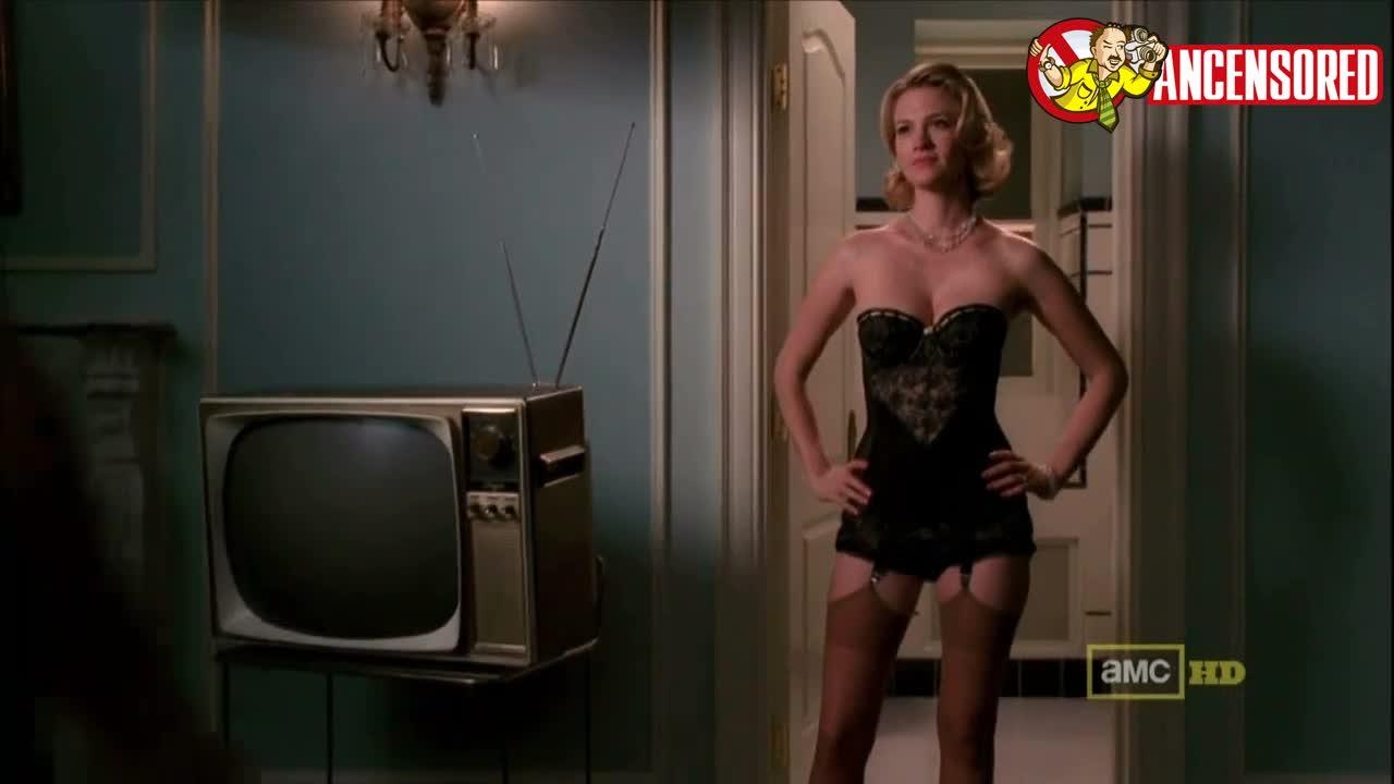 January Jones sexy scene in Mad Men