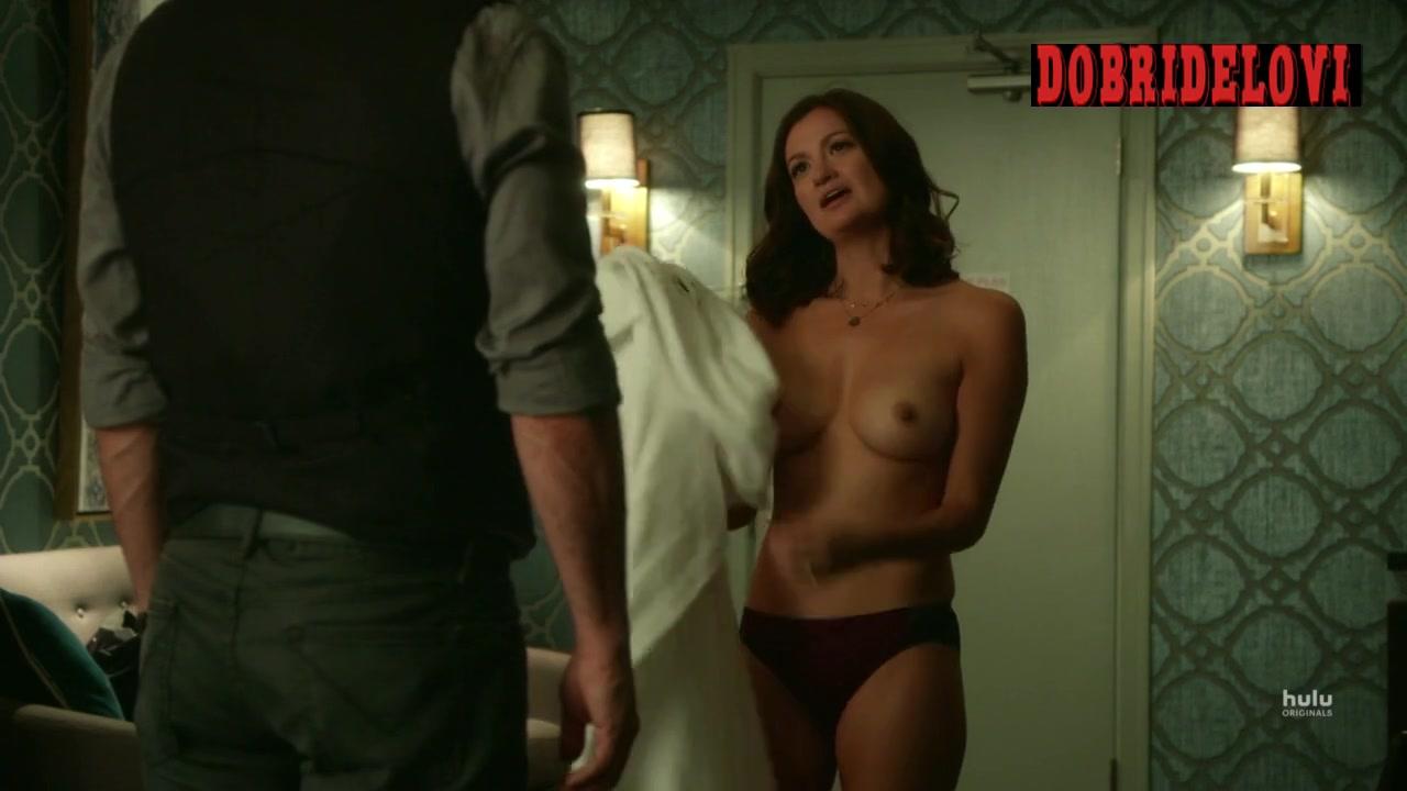 Leah McKendrick topless seducing in Shut Eye