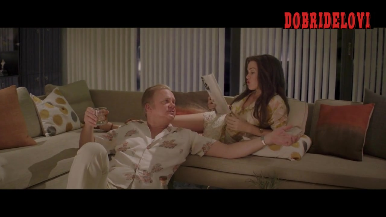 Isla Fisher sexy eating grapes in the sofa -- Life of Crime