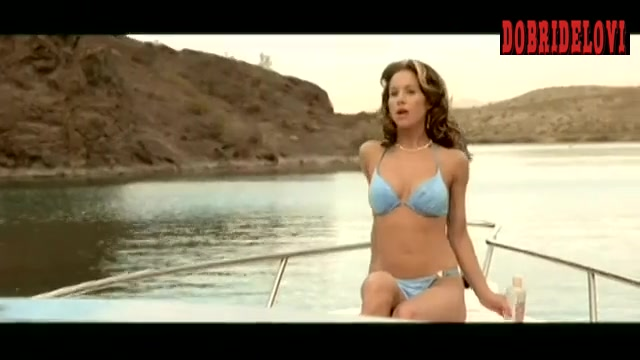 Christina Applegate sexy bikini on boat scene from View from the Top