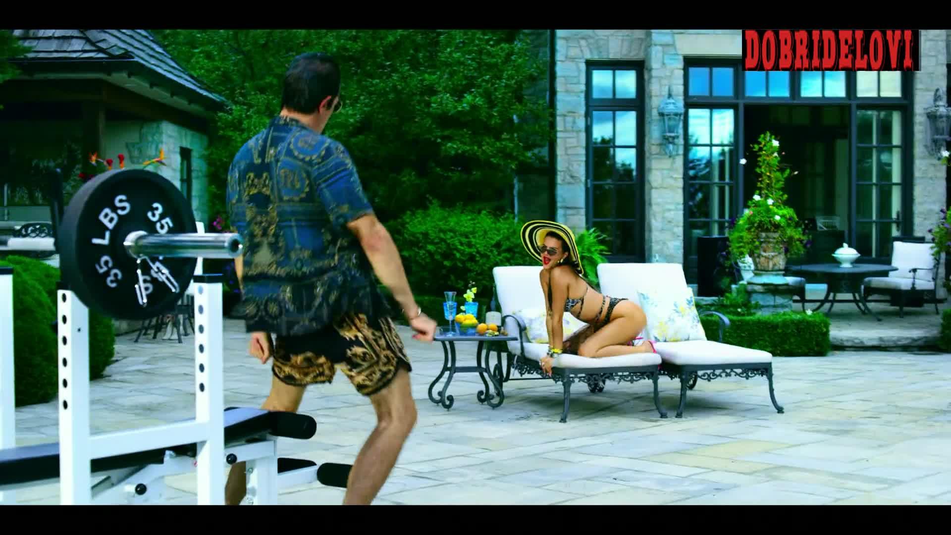 Ruby O Fee sexy bikini in the pool scene from Polar