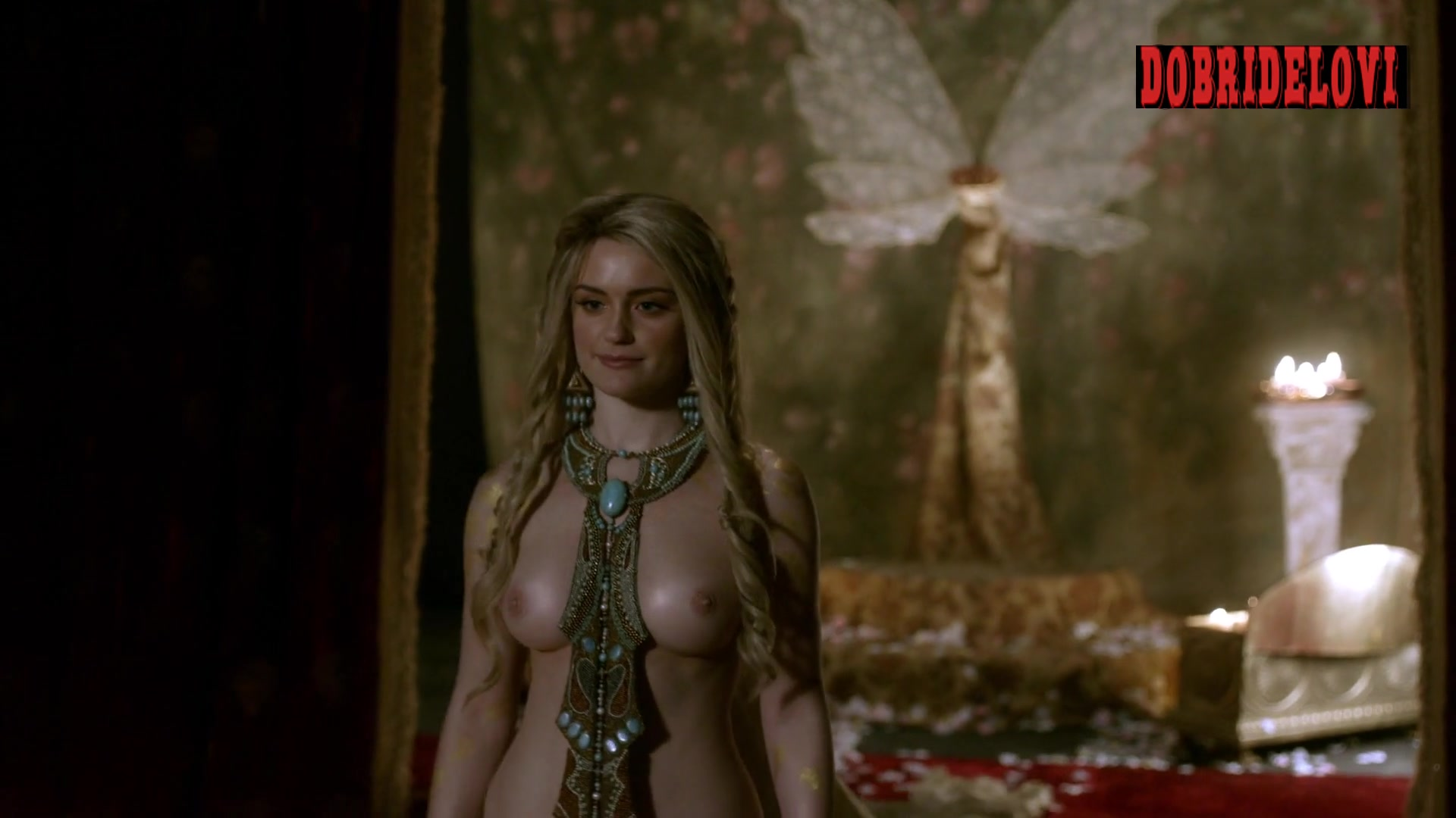 Alicia Agneson topless scene from Vikings