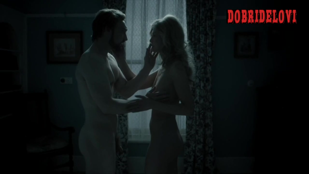 Rosamund Pike drops the nightgown in Woman in Love