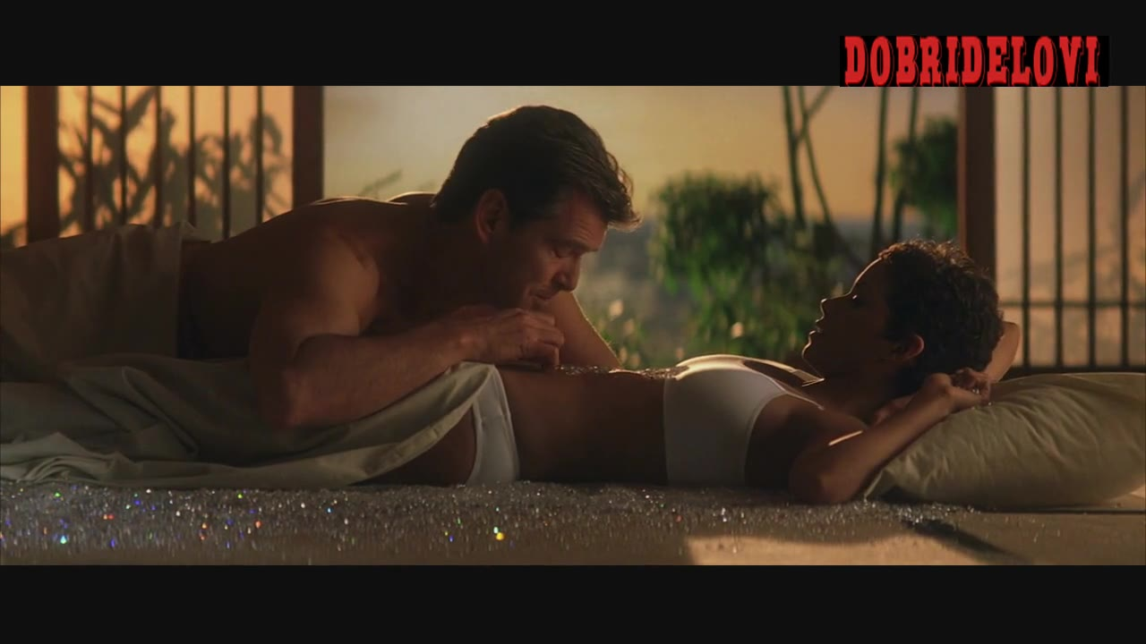Halle Berry sexy in bed with Pierce Brosnan