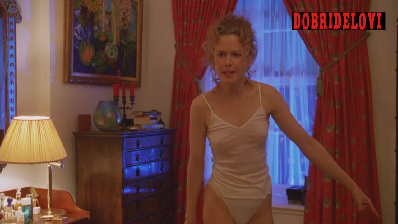 Nicole Kidman argues with Tom Cruise in white panties