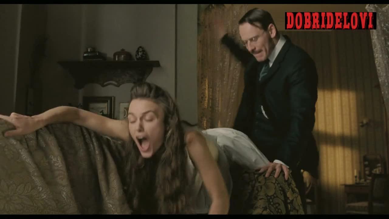 Keira Knightley spanked by Michael Fassbender in a Dangerous Method