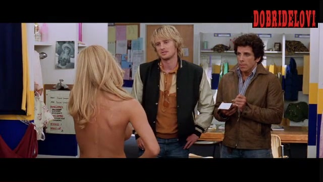 Brande Roderick undresses while interviewed by Ben Stiller and Owen Wilson