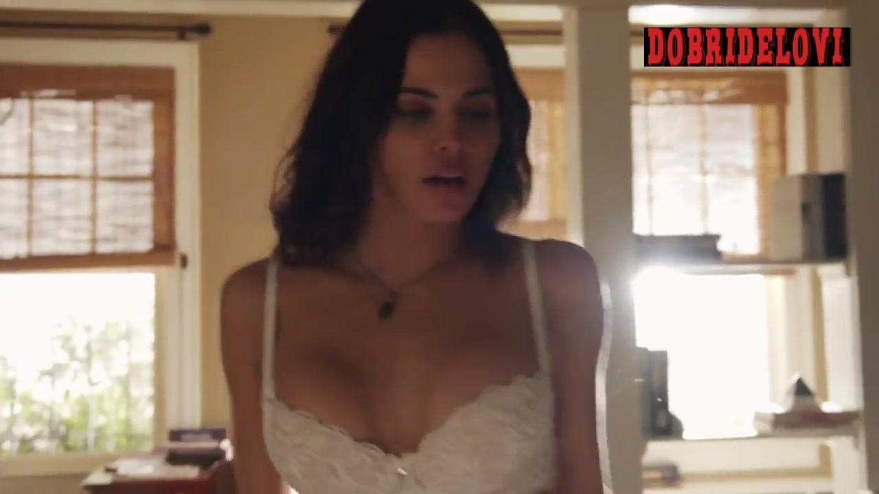 Jenna Dewan taking off top in white bra scene from The Resident