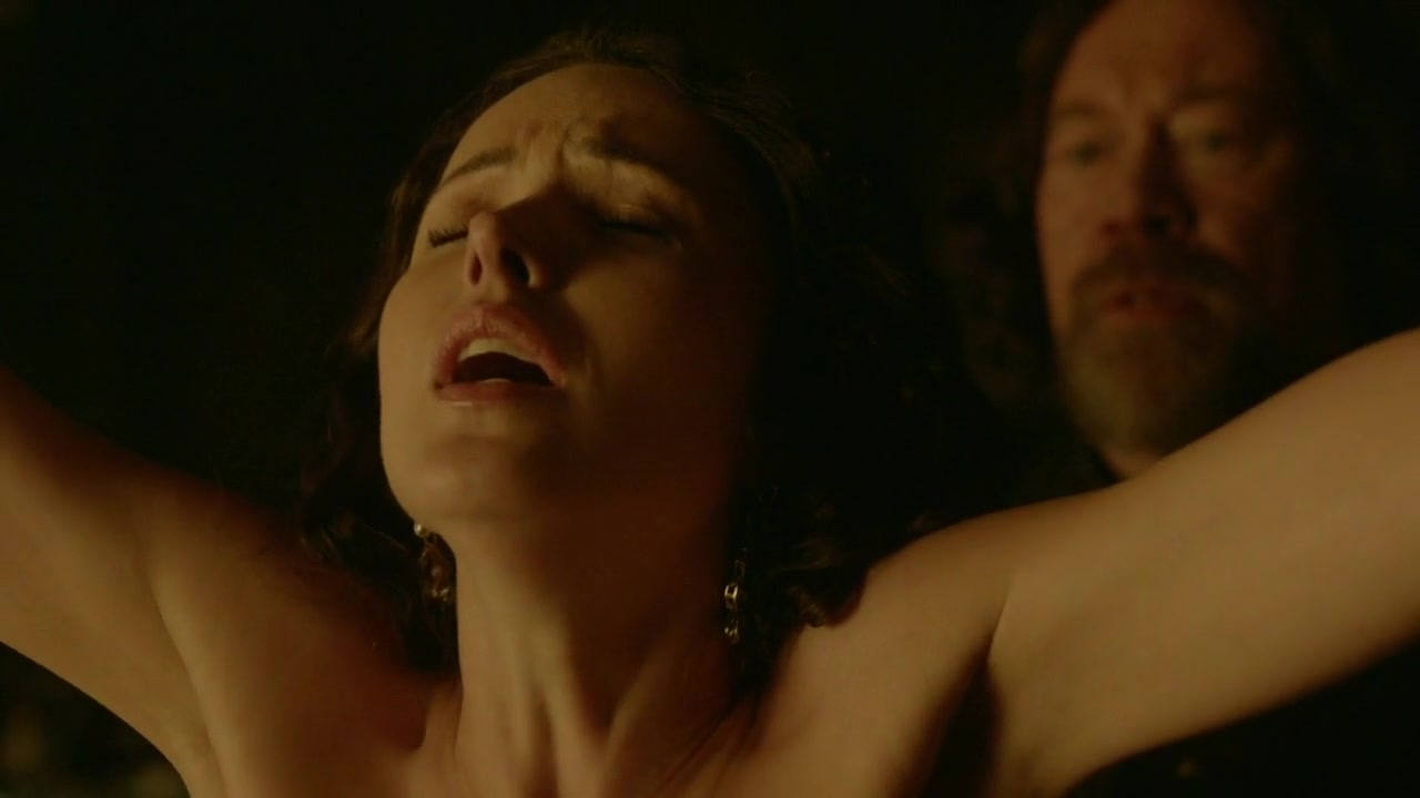 Karen Hassan nude and whipped scene from Vikings