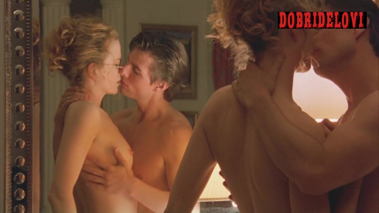 Nicole Kidman nude in front of mirror with Tom Cruise getting some