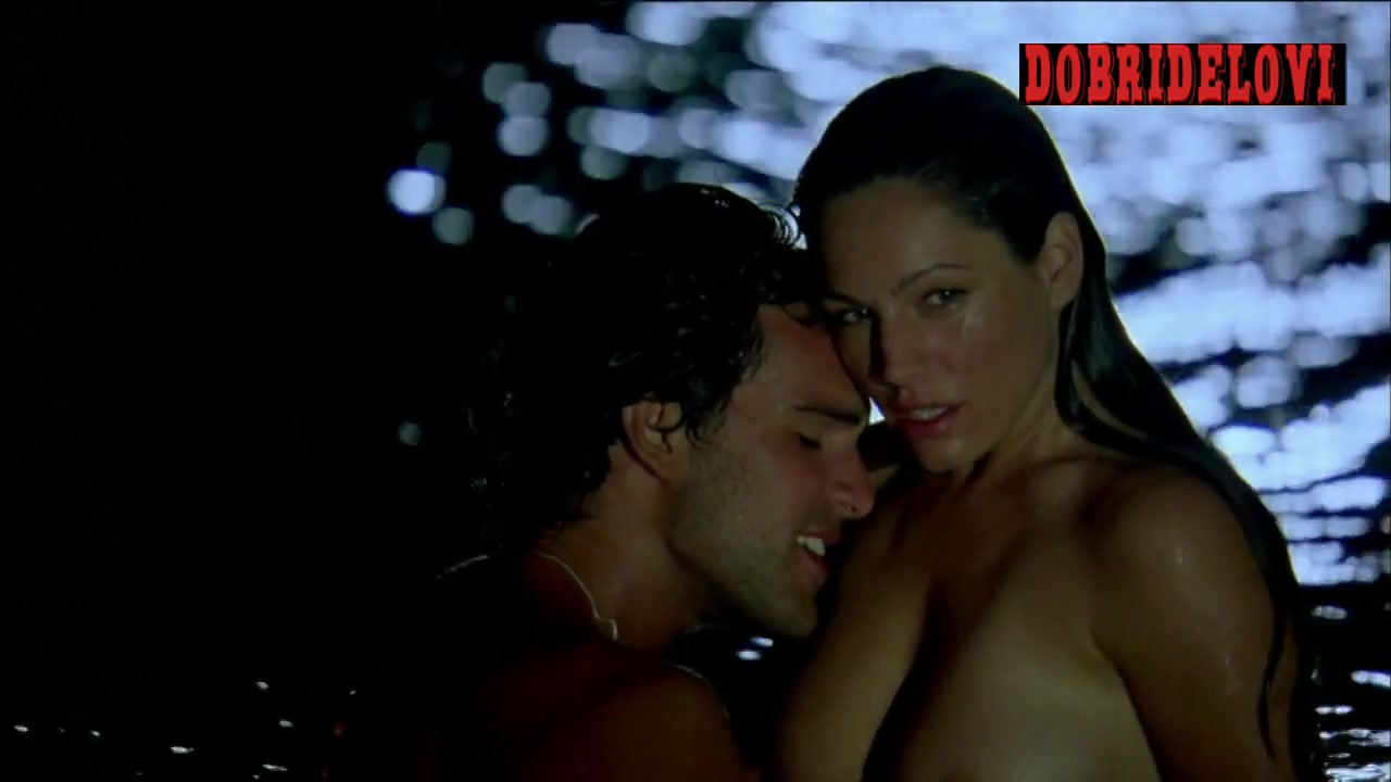 Kelly Brook skinny dipping scene from Survival Island