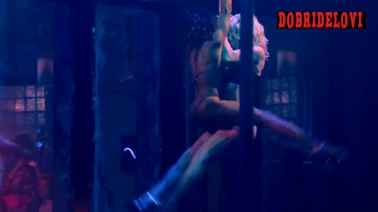 Shannon Thornton and Skyler Joy stripper pole scene from P-Valley