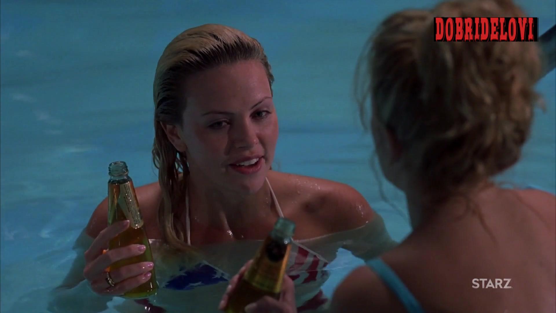 Natasha Richardson and Charlize Theron sex in pool scene
