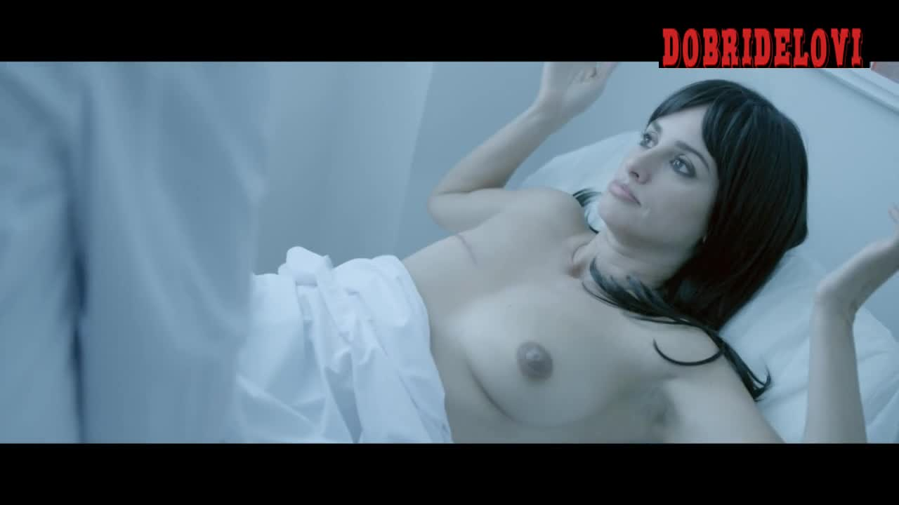 Penelope Cruz lays nude in bed for a mastectomy