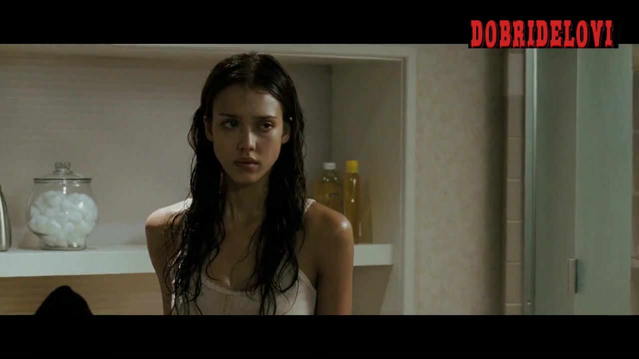 Jessica Alba gets off the shower scene from The Eye