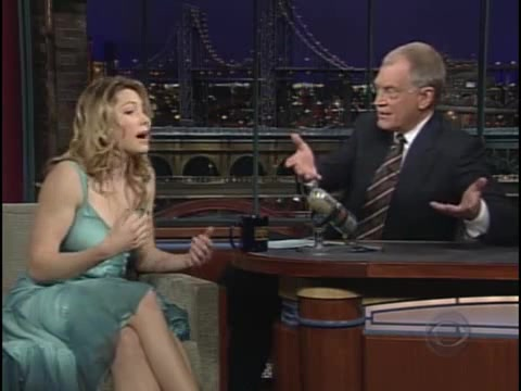 Jessica Biel screentime - Late Show with David Letterman