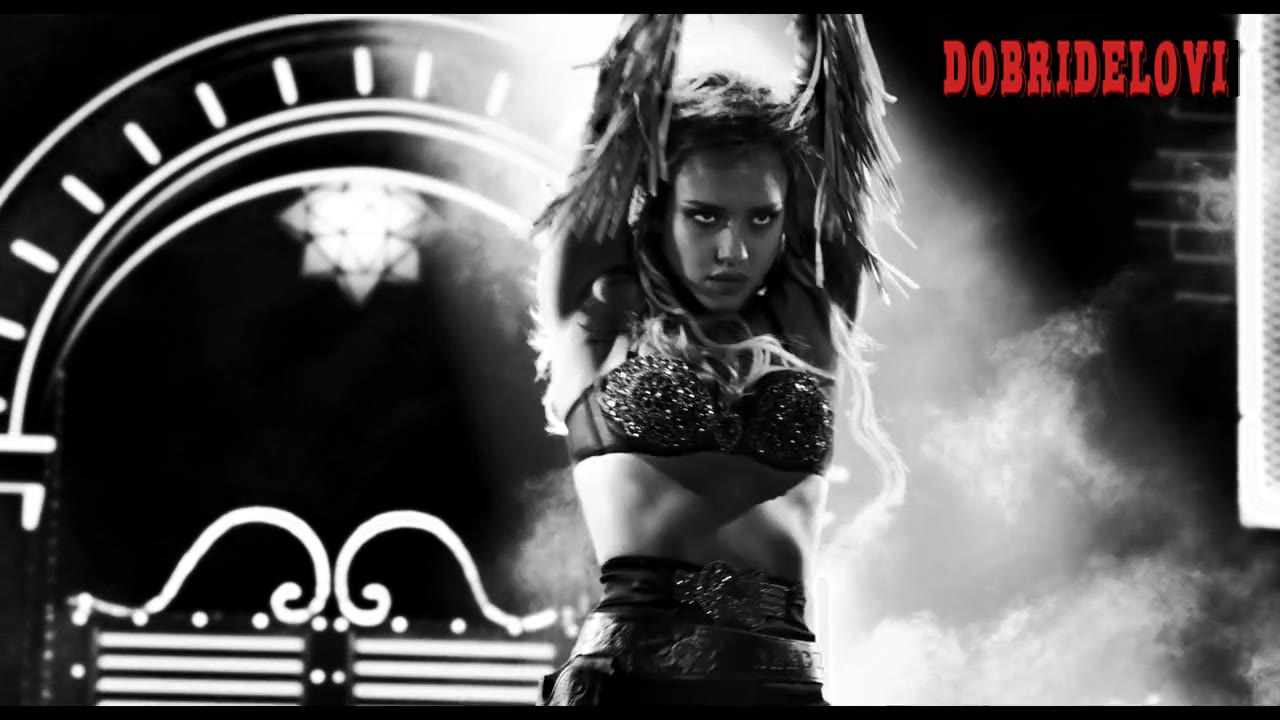 Jessica Alba dances on stage in Sin City a Dame to Kill For
