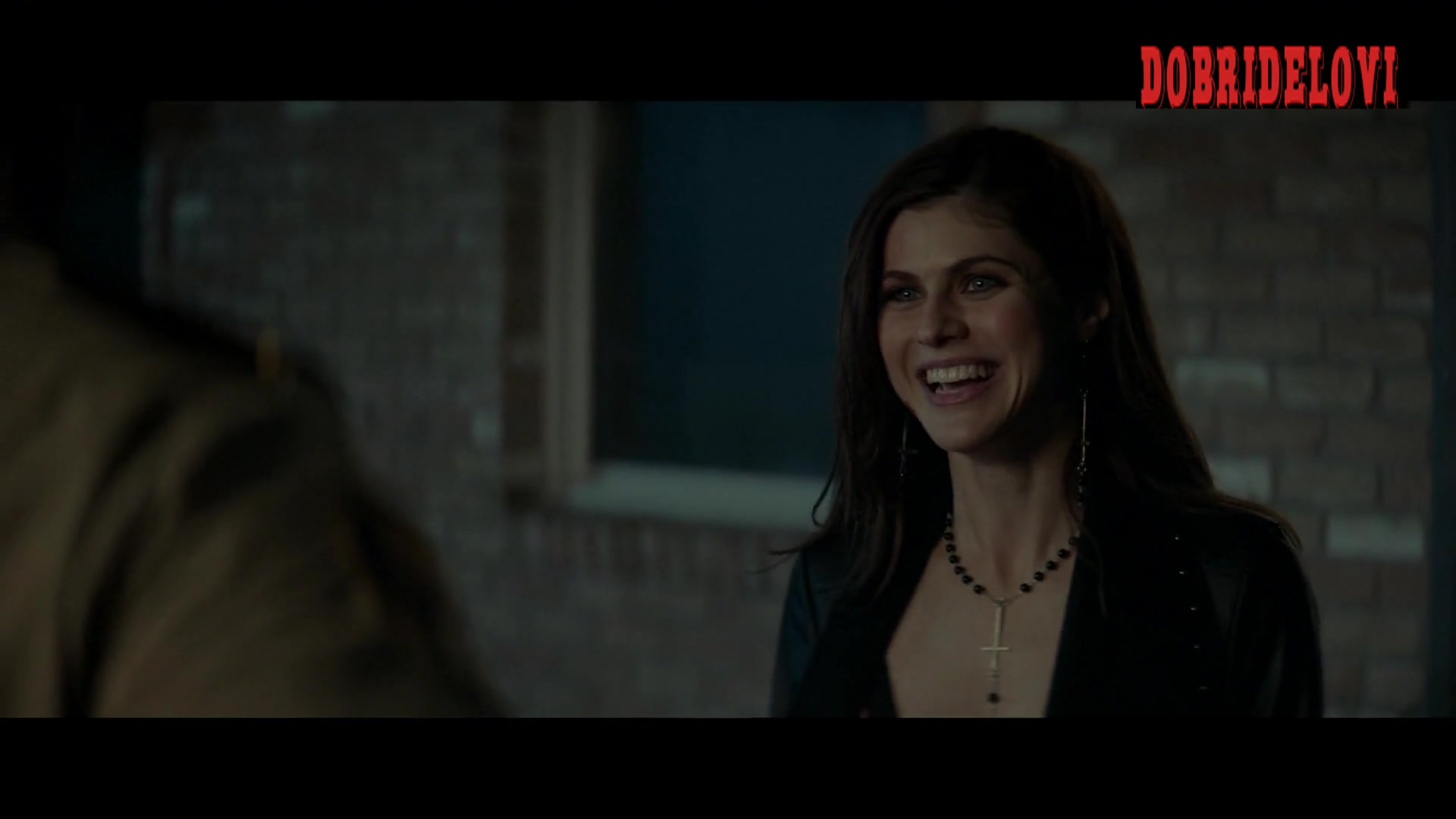 Alexandra Daddario sexy cleavage scene from We Summon the Darkness